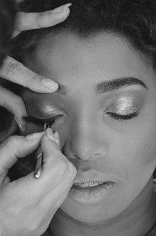 Woman, Makeup, Lipstick, Eyelashes, Skin, Glamorous