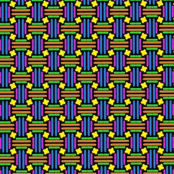 Lines, Seamless Pattern, Neon, Grid, Textile