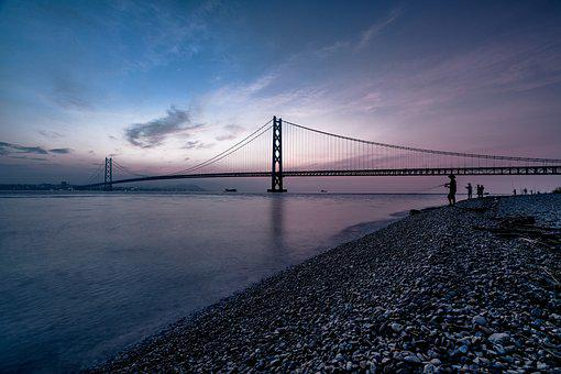 Landscape, Before Sunrise, Sea, Coast, Fisherman