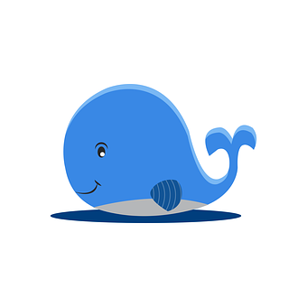 Blue Whale, Cartoon, Animal, Blue, Ocean, Mammal