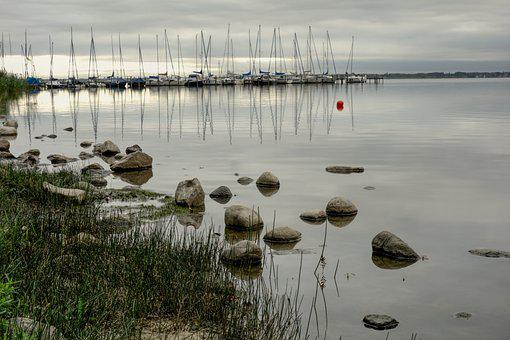 Sailing Boats, Marina, Water, Landscape, Stones, Nature