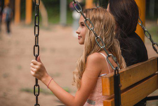 Girl, Swing, Young, Model, Long Hair, Person, Fashion