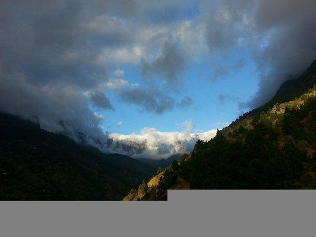 Mountains, Mountain Slope, Landscape, Trees, Foliage
