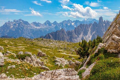 Alps, Dolomites, Mountains, Mountain Range