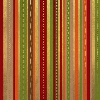 Stripes, Lines, Golden, Red, Orange, Brown, Green