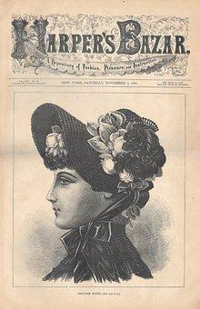 Ephemera, Fashion, Woman, Lady, Female, Portrait