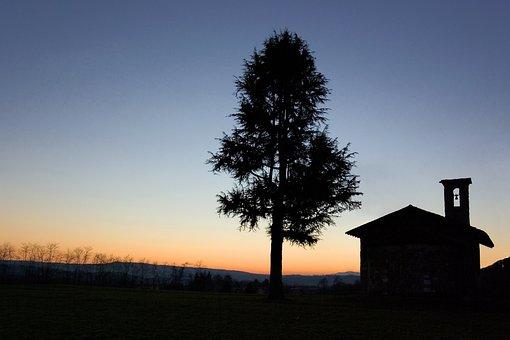 Landscape, Sunset, Silhouette, Scenic, Skyscape