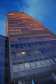 Tower, Skyscraper, Urban, High, Sky, Clouds, City