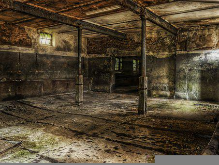 Building, Structure, Room, Abandoned, Space