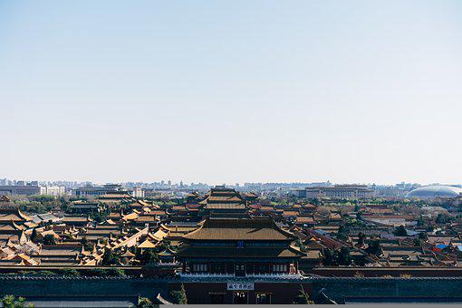 Forbidden City, Panorama, View, Outlook, City