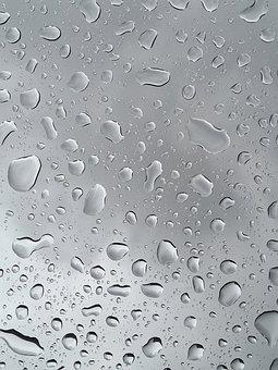 Window, Glass Window, Raindrops, Drops, Wet, Droplets