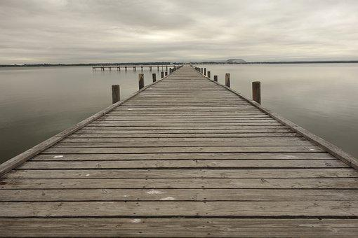 Maritime, Wooden Track, Water, Planks, Wooden Planks