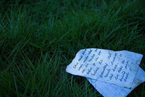 Letter, Grass, Nature, Note, Stationery, Writing