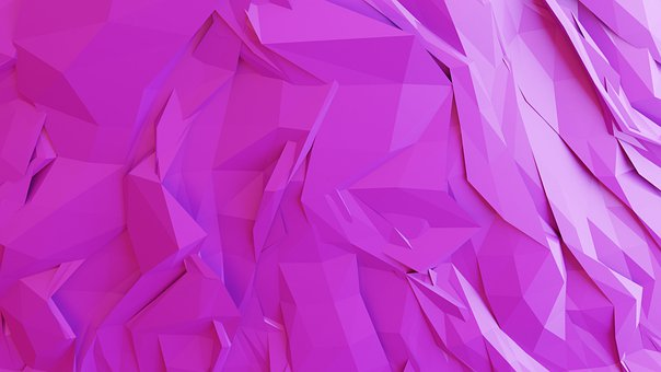 Abstract, Geometric, Violet, 3d Rendering, 3d Rendered