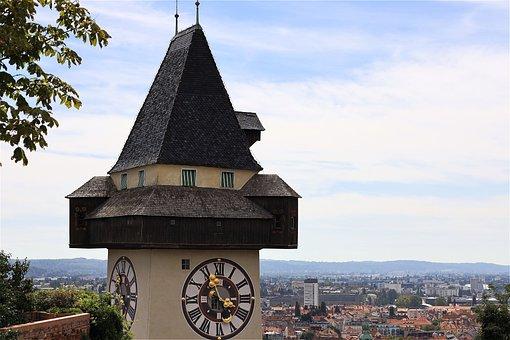 Clock Tower, Clock, Building, City, Historically