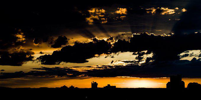Sunset, Sky, Nature, Evening, Clouds, Sun, Horizon