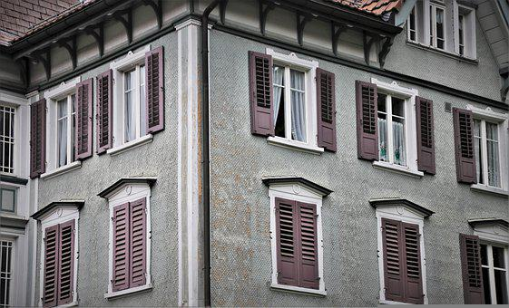 Facade, Old House, Old Windows, Old Building