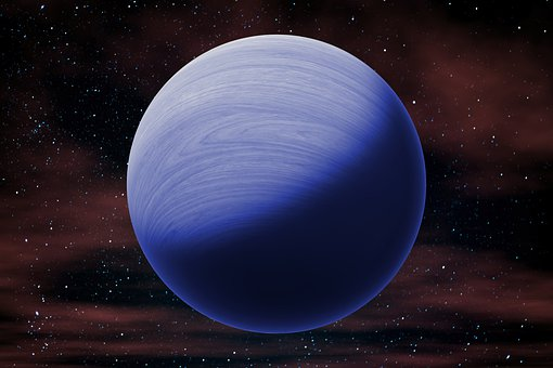 Neptune, Planet, Galaxy, Blue Planet, Eight Planet