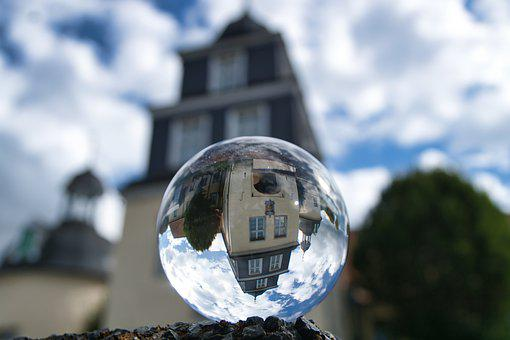 Glass Ball, Glass, Transparent, Architecture, Round