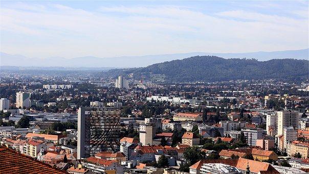 Building, Houses, Roofs, View, City, Landscape, Graz