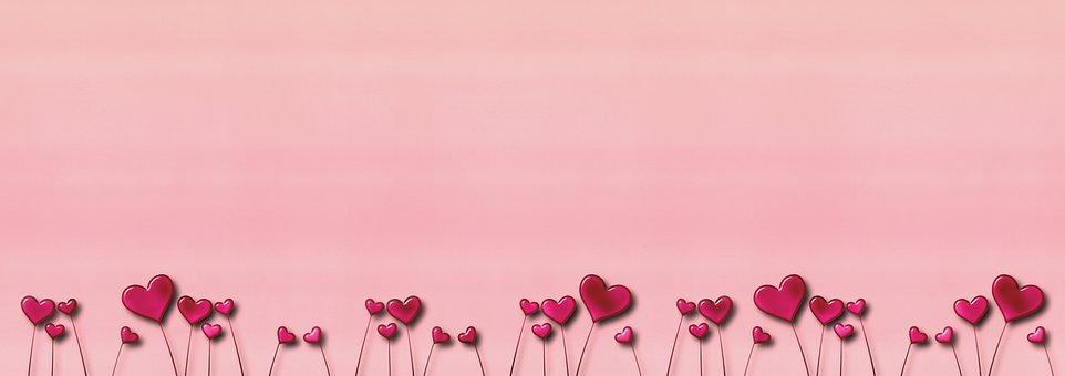 Hearts, Love, Banner, Romantic, Valentine, Symbol