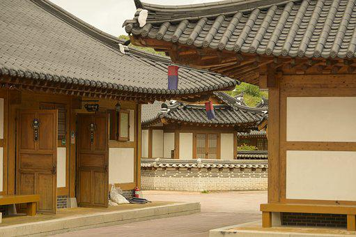 Hanok, Korean House, Traditional Korean House, Facade