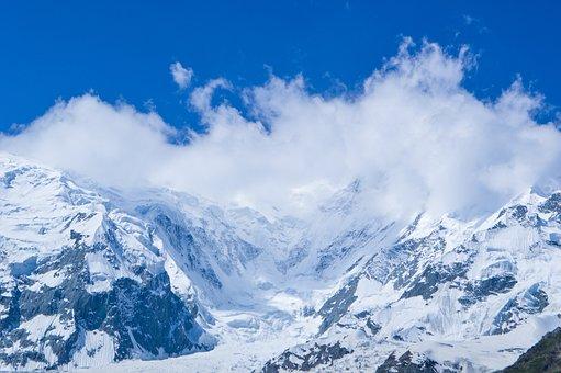Mountains, Clouds, Landscape, Snow, Snowy Mountains