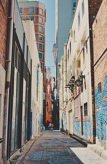 Lane, Laneway, Alley, Urban, Narrow, Graffiti, Art