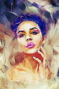 Woman, Make Up, Beauty, Fashion, Model, Portrait