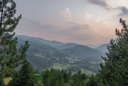 Landscape, Mountains, Trees, Foliage, Mountain Range