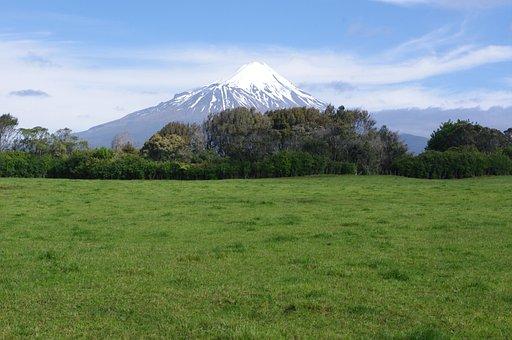 Mount Egmont, Volcano, New Zealand, Landscape, Nature