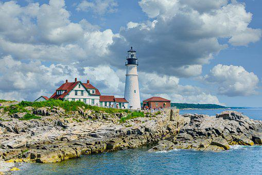 Portland Head Light, Lighthouse, Light Station, Tower