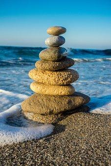 Yoga, Relaxation, Stones, Beach, Sand Beach, Soul