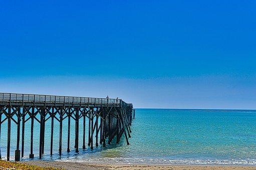 Sea, Boardwalk, Beach, Ocean, Coast, Seashore, Seascape