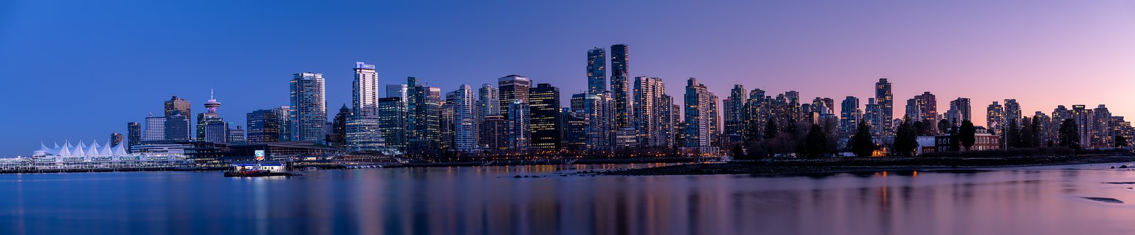 Buildings, Harbor, Skyline, Cityscape, Skyscrapers