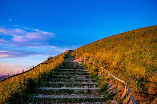 Mountain, Stairs, Mountain Top, Landscape, Steps