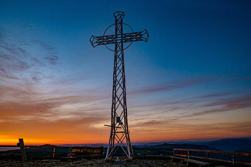 Cross, Tarnica Cross, Mountain Top, Metal Cross, Peak
