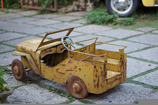Toy, Toy Car, Rusty, Old, Shabby, Miniature