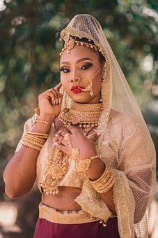 Portrait, Model, Indian Bride, Bride, Traditional Wear