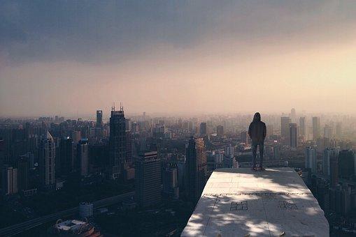 City, Standing Man, Boy, Alone, Guy, Standing, Male