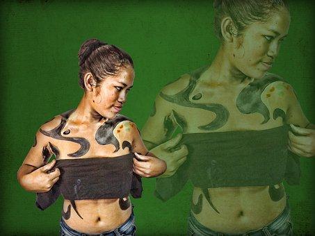 Body Paint, Artistic, Jungle, Amazonia, Women, Beauty