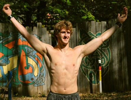 Man, Shirtless, Shirtless Man, Young, Athlete