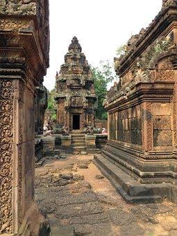 Cambodia, Angkor, Temple, Banteay Srei, Religion