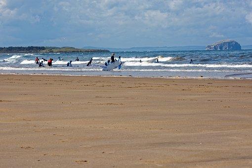 Surfers, Surfing, Surf School, Waves, Beach, Sand