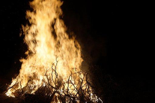 Fire, Burning, Bonfire, Element, Border, Baking, Witch
