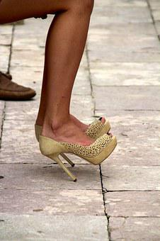 Wedding, Shoes, Bride, White, Elegant, Women's Shoes