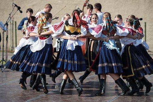 Folklore, Dancer, Circle, Costumes, Dance, Slovakia