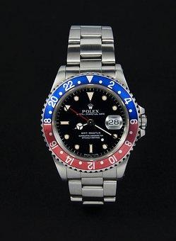 Rolex, Wrist Watch, Clock, Gmt, Gmt-master, Mens
