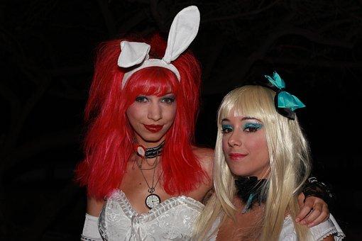 Alice In Wonderland, Cosplay, Women, Dressed, Character