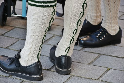 Stocking, Men's, Costume, Costume Shoes, Bavaria